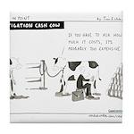 Cash Cow Tile Coaster