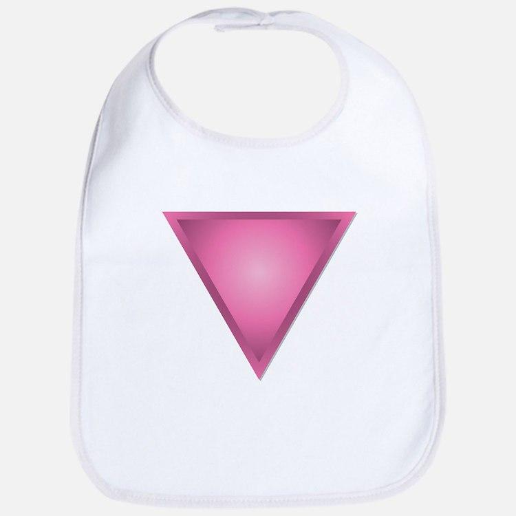 Pink Triangle Bib