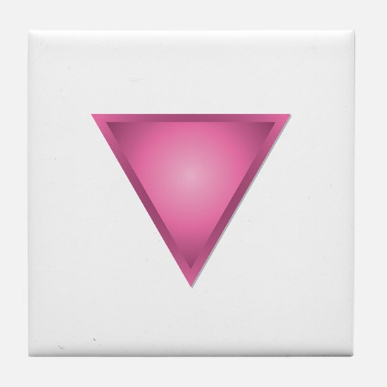 Pink Triangle Tile Coaster