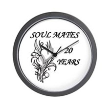 Unique 20th wedding anniversary Wall Clock