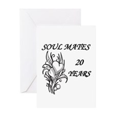 Unique Twentieth anniversary Greeting Card