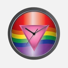 Flag and Triangle Wall Clock