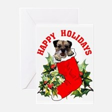 border terrier Christmas Greeting Cards (Package o