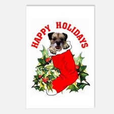 border terrier Christmas Postcards (Package of 8)