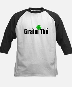 Love You (in Irish) Kids Baseball Jersey