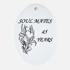 Funny 45th wedding anniversary Oval Ornament