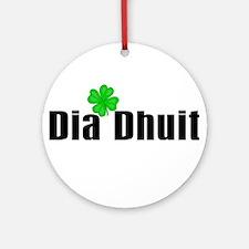 Hello (in Irish) Ornament (Round)