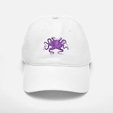 Purple Octopus Baseball Baseball Cap