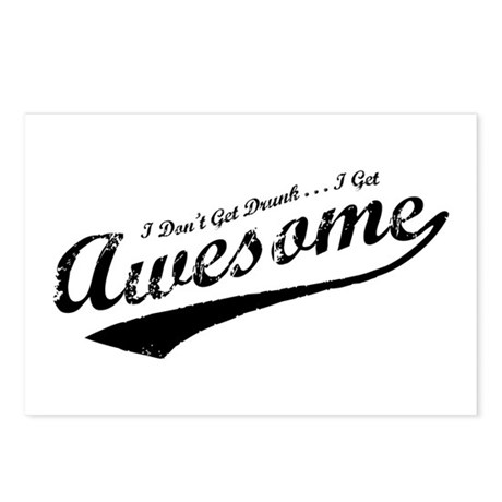 I Get Awesome Postcards (Package of 8)