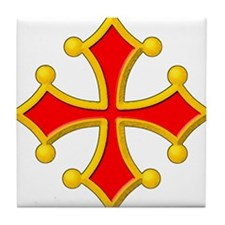Cross of Toulouse Tile Coaster