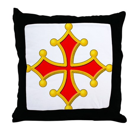 Cross of Toulouse Throw Pillow