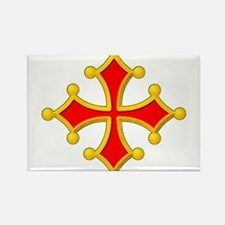 Cross of Toulouse Rectangle Magnet