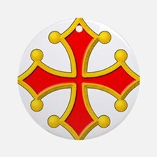 Cross of Toulouse Ornament (Round)