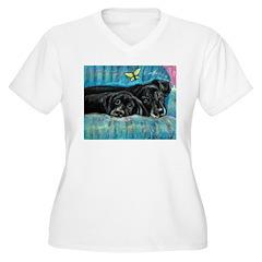 Portrait of Labs, Jade & Jasm T-Shirt