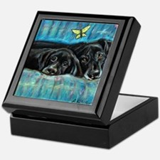 Portrait of Labs, Jade & Jasm Keepsake Box