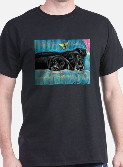 Portrait of Labs, Jade & Jasm T-Shirt