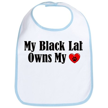 Heart Owning Black Lab Bib