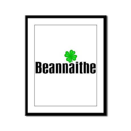 Blessed (in Irish) Framed Panel Print