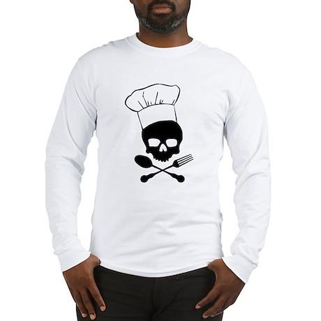 Skull & Crossbones Chef Long Sleeve T-Shirt