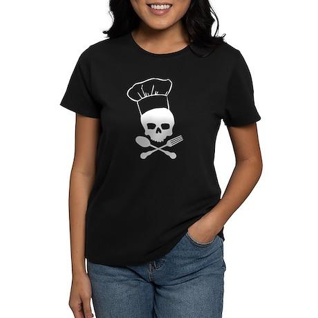 Skull & Crossbones Chef Women's Dark T-Shirt