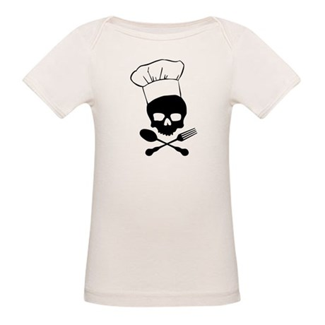 Skull & Crossbones Chef Organic Baby T-Shirt