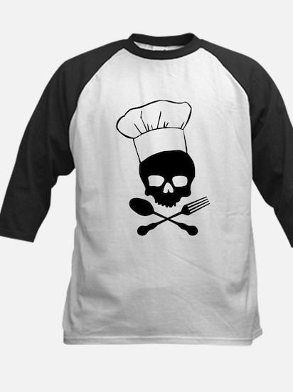 Skull & Crossbones Chef Kids Baseball Jersey