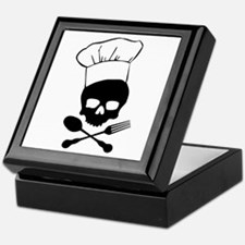 Skull & Crossbones Chef Keepsake Box