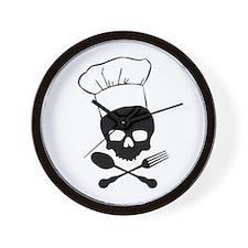 Skull & Crossbones Chef Wall Clock