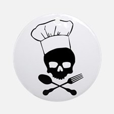 Skull & Crossbones Chef Ornament (Round)
