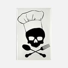Skull & Crossbones Chef Rectangle Magnet
