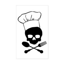 Skull & Crossbones Chef Stickers