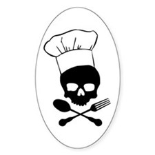 Skull & Crossbones Chef Decal