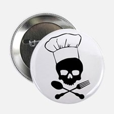 """Skull & Crossbones Chef 2.25"""" Button"""