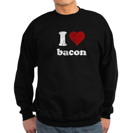 I heart bacon Sweatshirt (dark)
