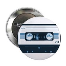 "Cassette Tape 2.25"" Button"