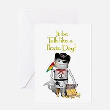 Cute Pirate day Greeting Card