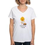 Camping Chick Women's V-Neck T-Shirt