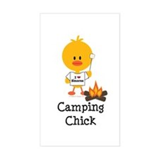 Camping Chick Decal