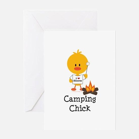 Camping Chick Greeting Card
