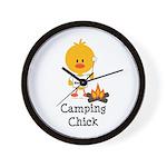 Camping Chick Wall Clock