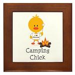 Camping Chick Framed Tile