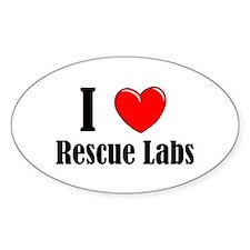 I Love Rescue Labradors Decal