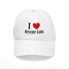 I Love Rescue Labradors Baseball Cap