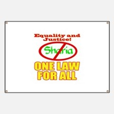 One Law For All Banner