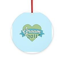 Heart Groom 2011 Ornament (Round)