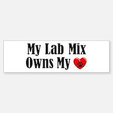 Heart Owning Lab Mix Bumper Bumper Sticker