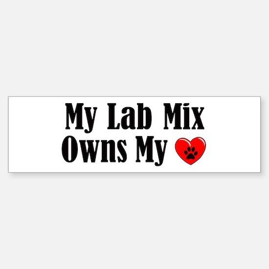 Heart Owning Lab Mix Sticker (Bumper)