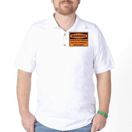 Warning - 2 sided Golf Shirt