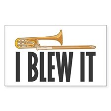 I Blew It Trombone Decal