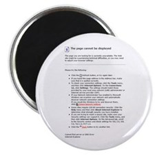 """Page Not Displayed 2.25"""" Magnet (10 pack)"""
